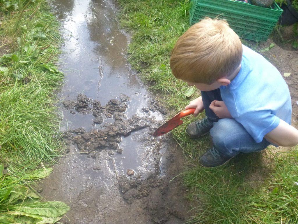 junge beobachtet kreativgarten e.v.