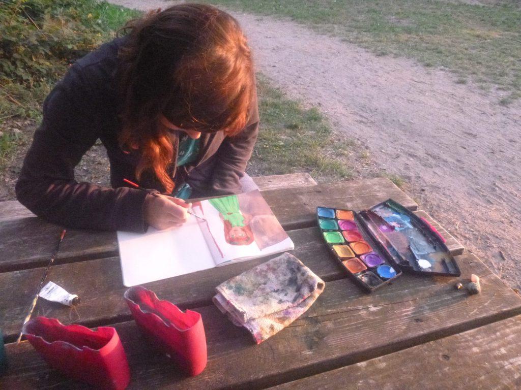 zeichnen camping kreativgarten e.v